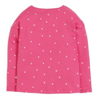 Frugi Bethany Boxy Top Flamingo Spot Star  6-7