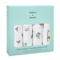 Aden + Anais Jungle Jam 4 Pack classic swaddles