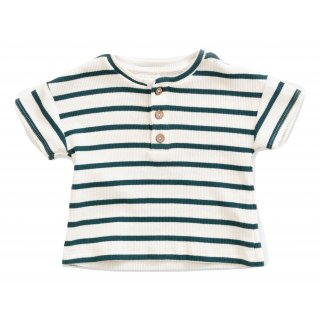Play Up Striped Rib T-shirt Fb.R235G Old Glass