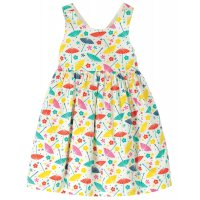 Frugi Porthcurno Party Dress Soft White Parasols