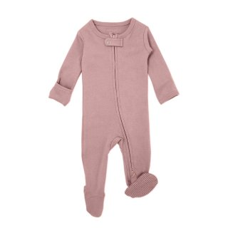Lovedbaby Organic Zipper Footed Overall Mauve NB