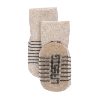 Anti-slip Socks 2 pcs. assorted grey/beige 23-26