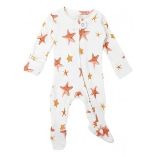 Lovedbaby Organic Zipper Footed Overall Starfish 0-3M
