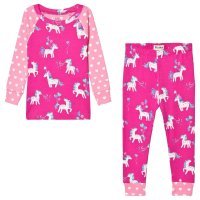 Hatley Party Horses Organic Cotton Raglan Pajama Set
