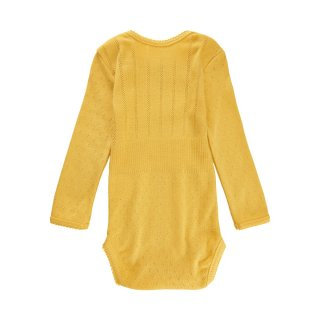 NoaNoa Baby Body, Long Sleeve ochre yellow