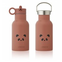 Water Bottle Panda dark rose