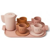 Silicone Tea Set Ophelia rose multi mix