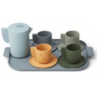 Silicone Tea Set Ophelia blue multi mix