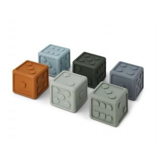 Silicone Dices Gloria 6-Pack blue multi mix