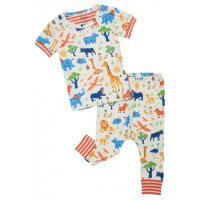 Hatley Wild Safari Organic Cotton Baby Short Sleeve...