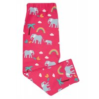 Frugi Libby Printed Leggings Deep Pink Rainbow Walks