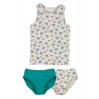 Frugi Vest and Brief 3 Pieces Set Elephants